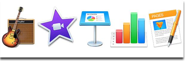 GarageBandなどの標準プリインストールアプリ