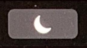 タッチバーのおやすみモードボタン