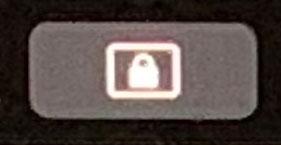 タッチバーの画面ロックボタン