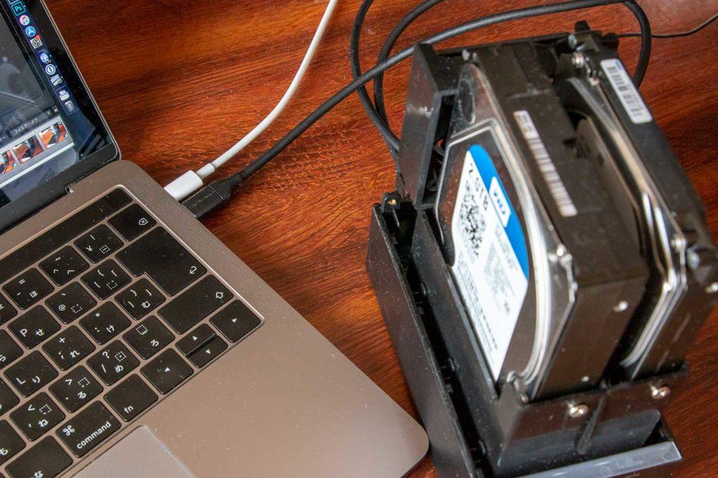 外付けHDDとMacBook