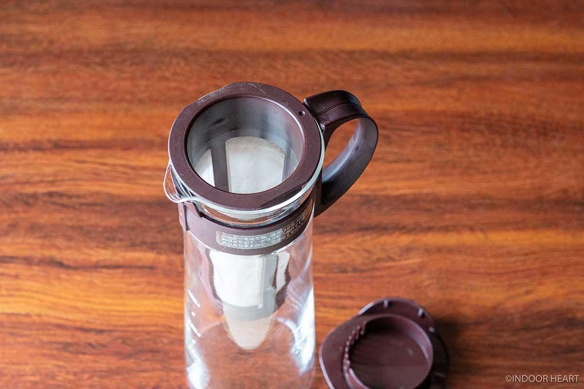 ハリオの水出しコーヒーポットの蓋