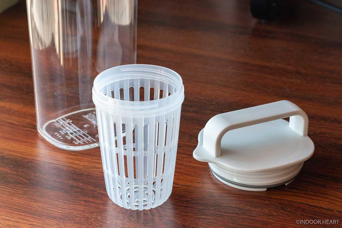 無印良品のアクリル冷水筒のフィルター