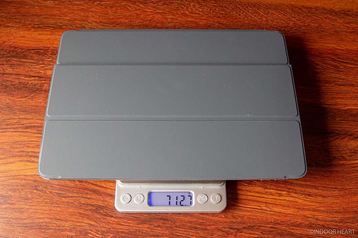 iPadとスマートキーボードの重さ