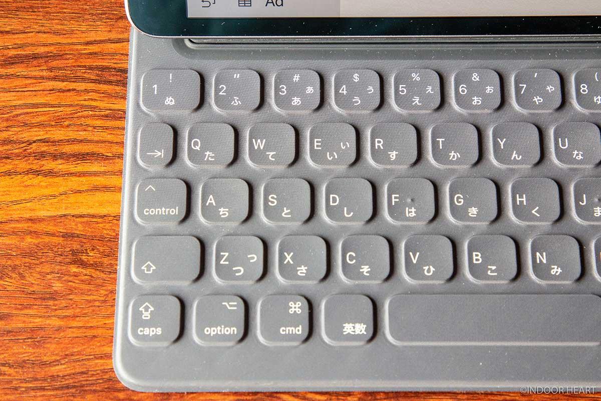 スマートキーボードにはescキーがない