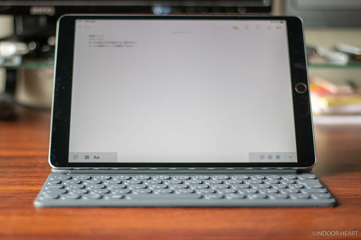 iPadとスマートキーボードのコンパクトさ