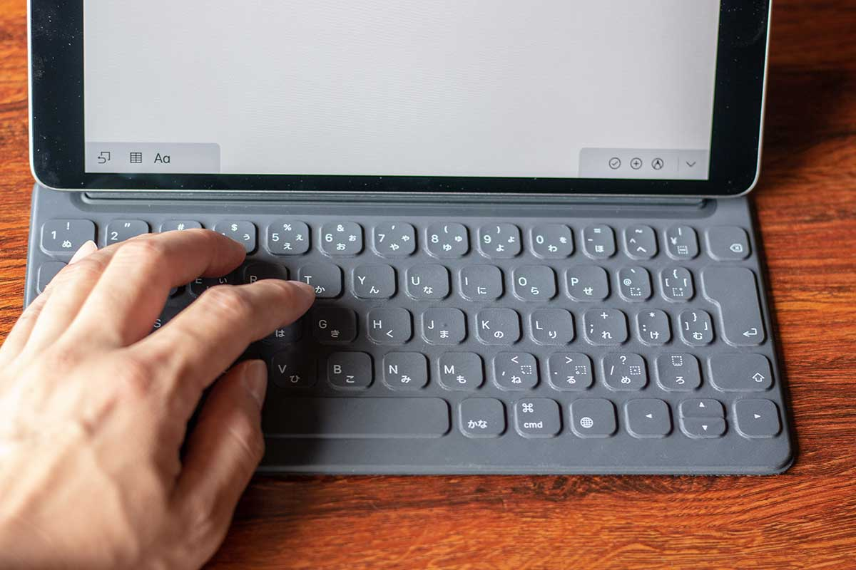 スマートキーボードで文字を入力する