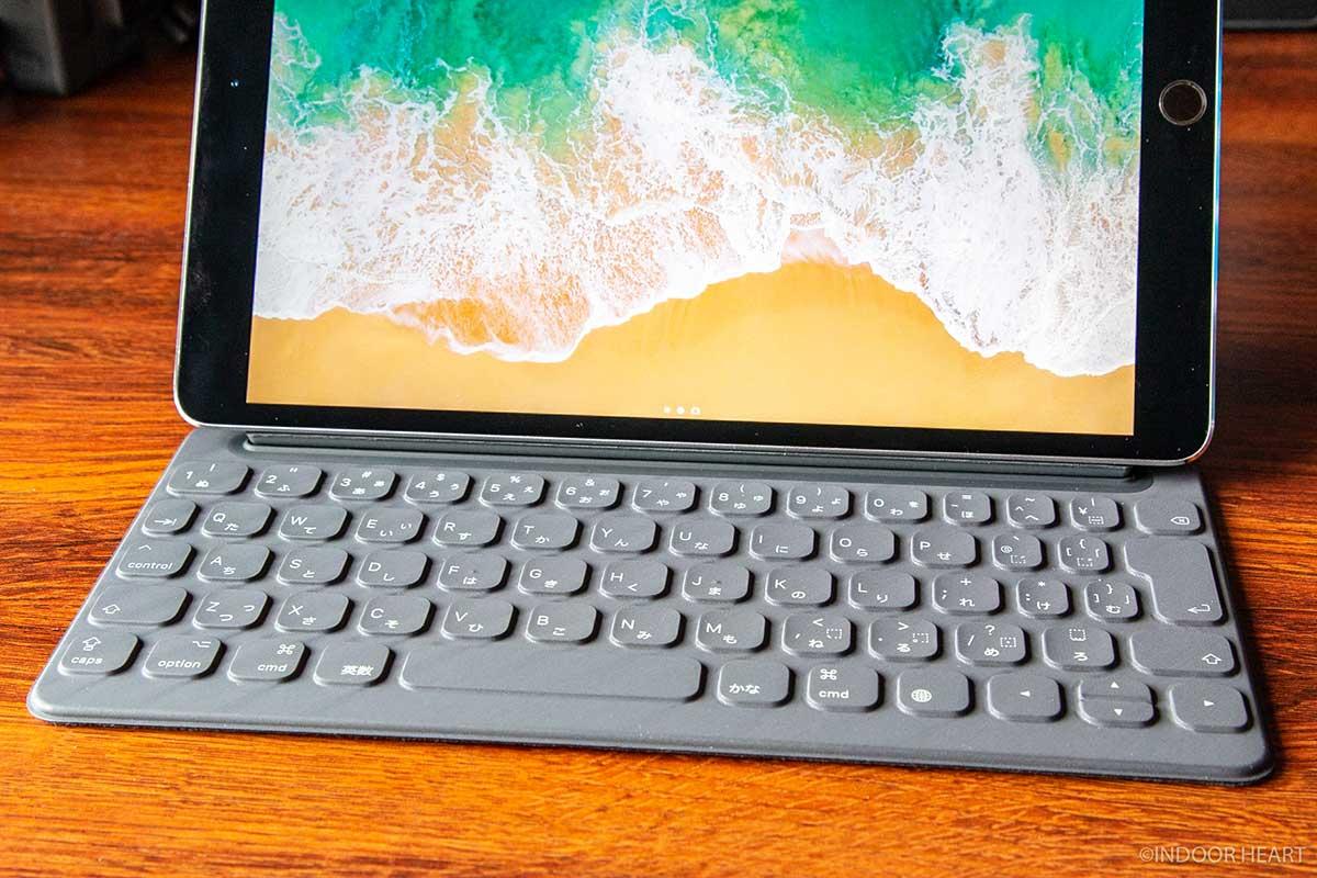 スマートキーボードのキーボード部分アップ