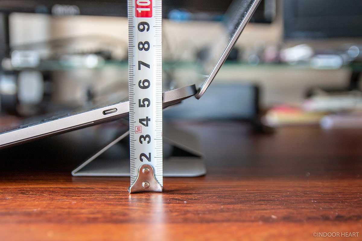 ノートPCを5cm上げるスタンド