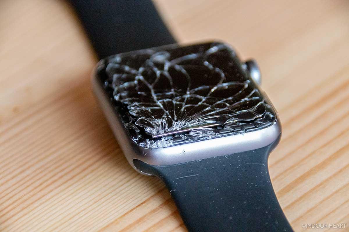 Apple Watchが割れた箇所