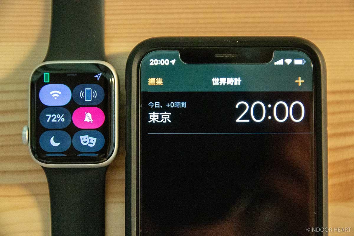 常時表示OFFのApple Watchのバッテリー残量
