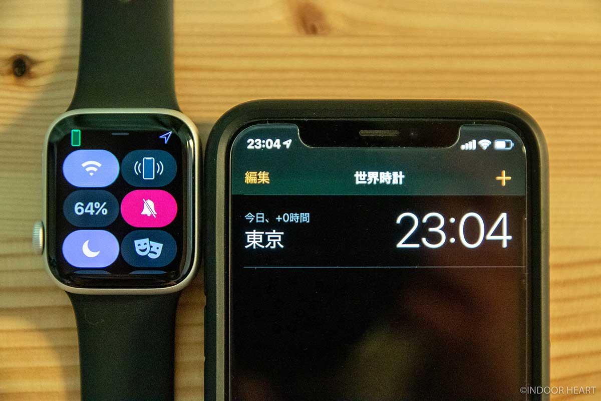 1日使った常時表示OFFのApple Watchのバッテリー残量