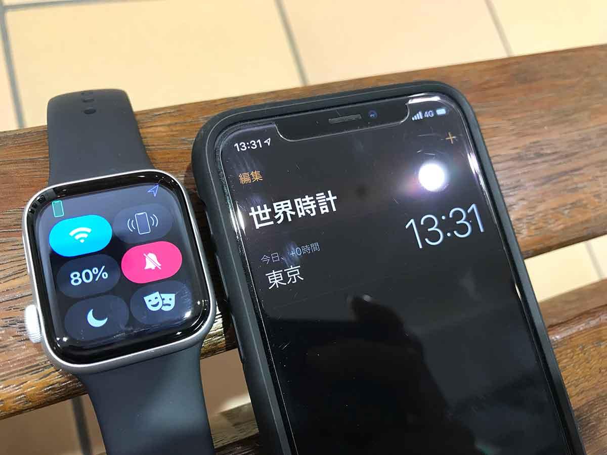 常時表示オンのApple Watchのバッテリー残量