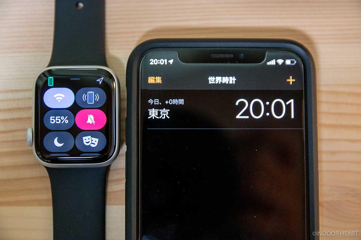 常時表示ONのApple Watchのバッテリー残量