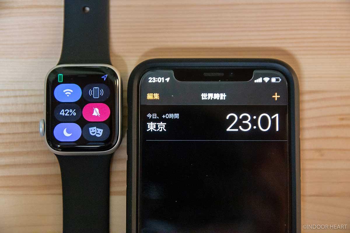 1日使った常時表示ONのApple Watchのバッテリー残量