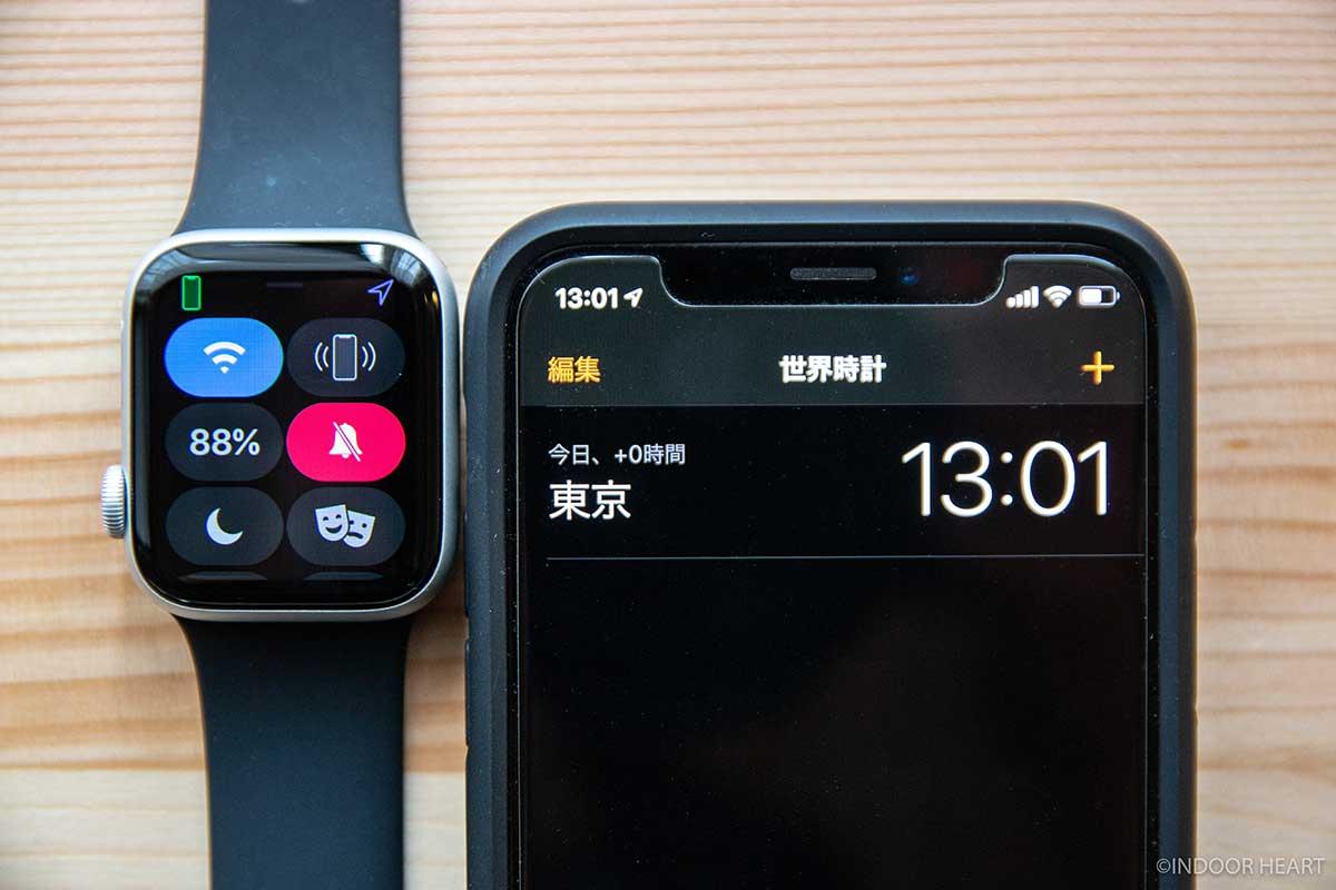 常時表示オフのApple Watchのバッテリー残量