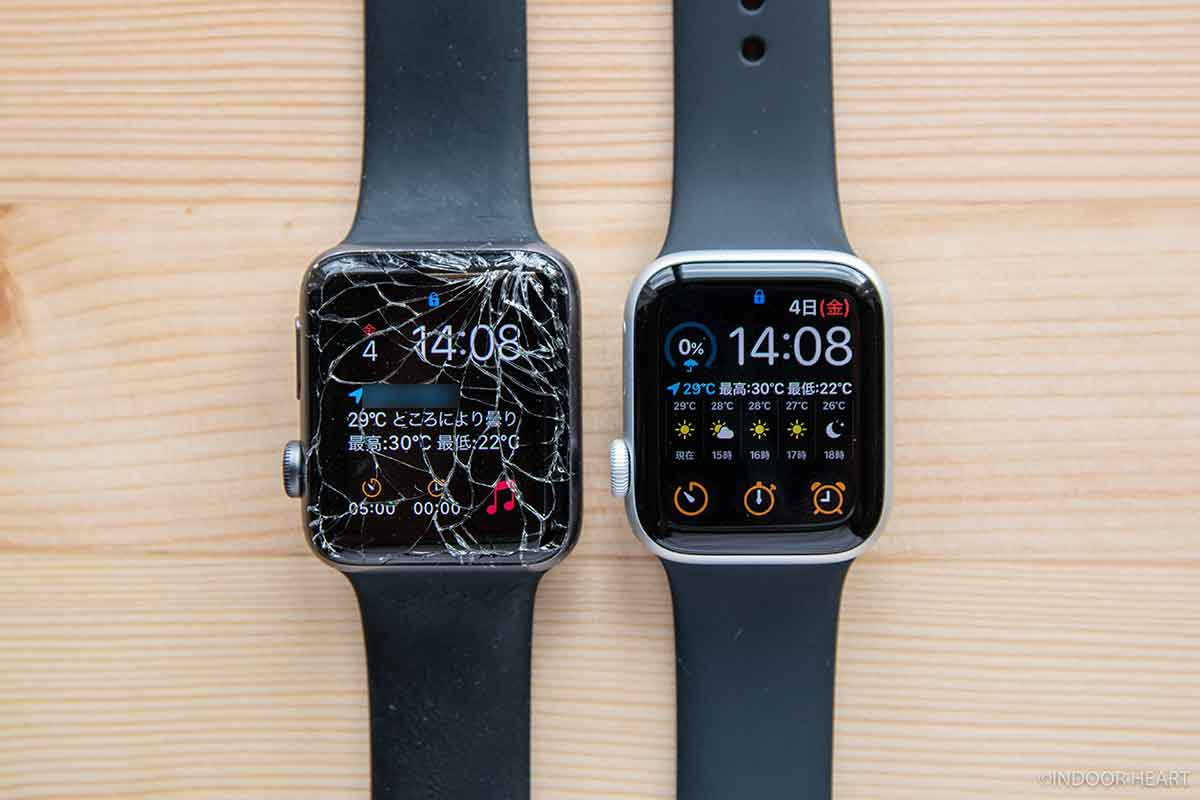 Apple Watch Series3と5の比較