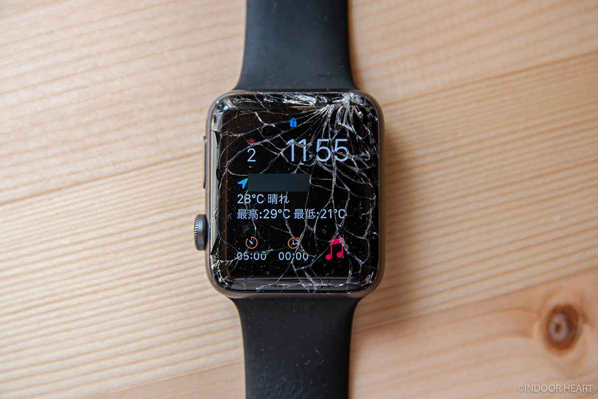 割れたApple Watch