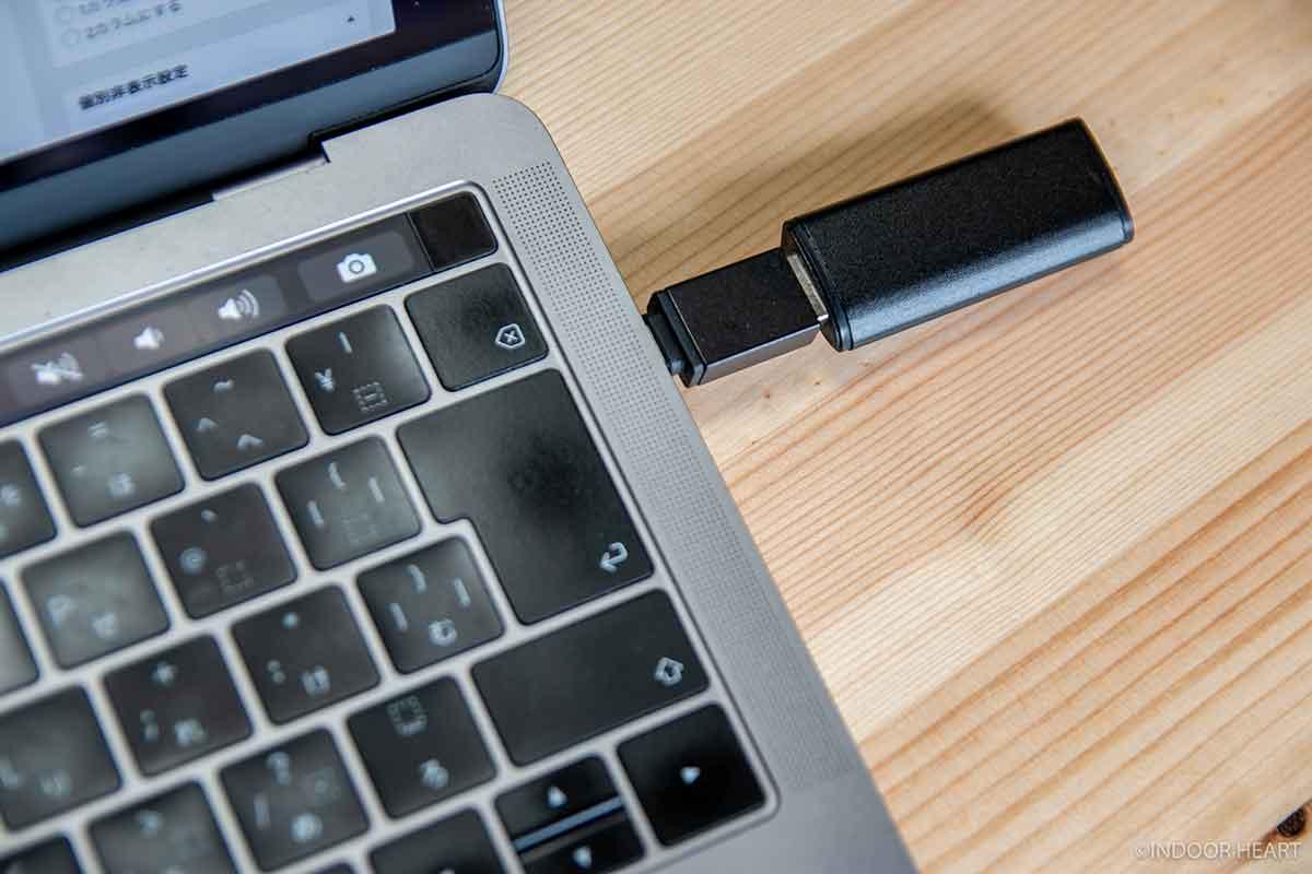 MacBookに接続したflashget