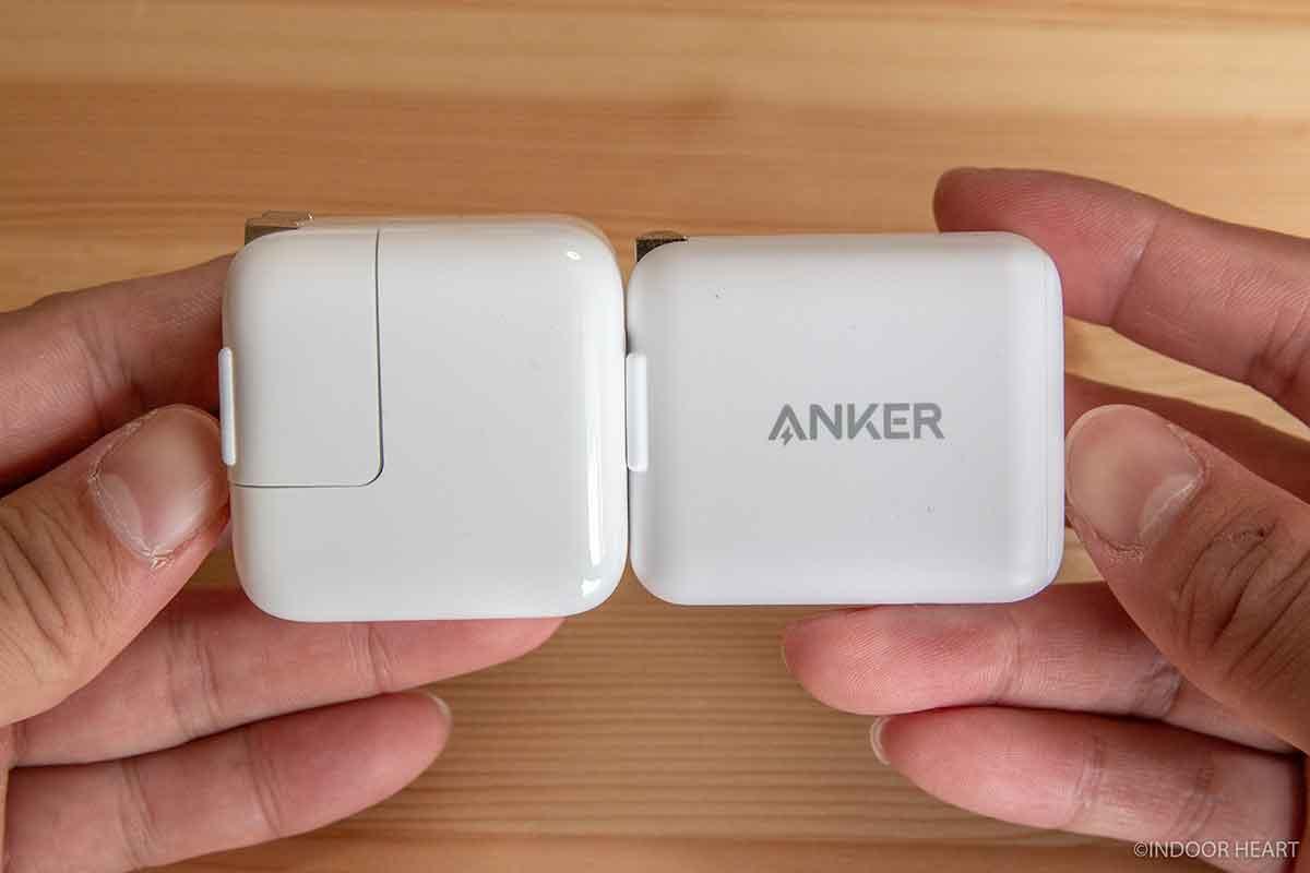Apple12W充電器とAnker PowerPort III mini