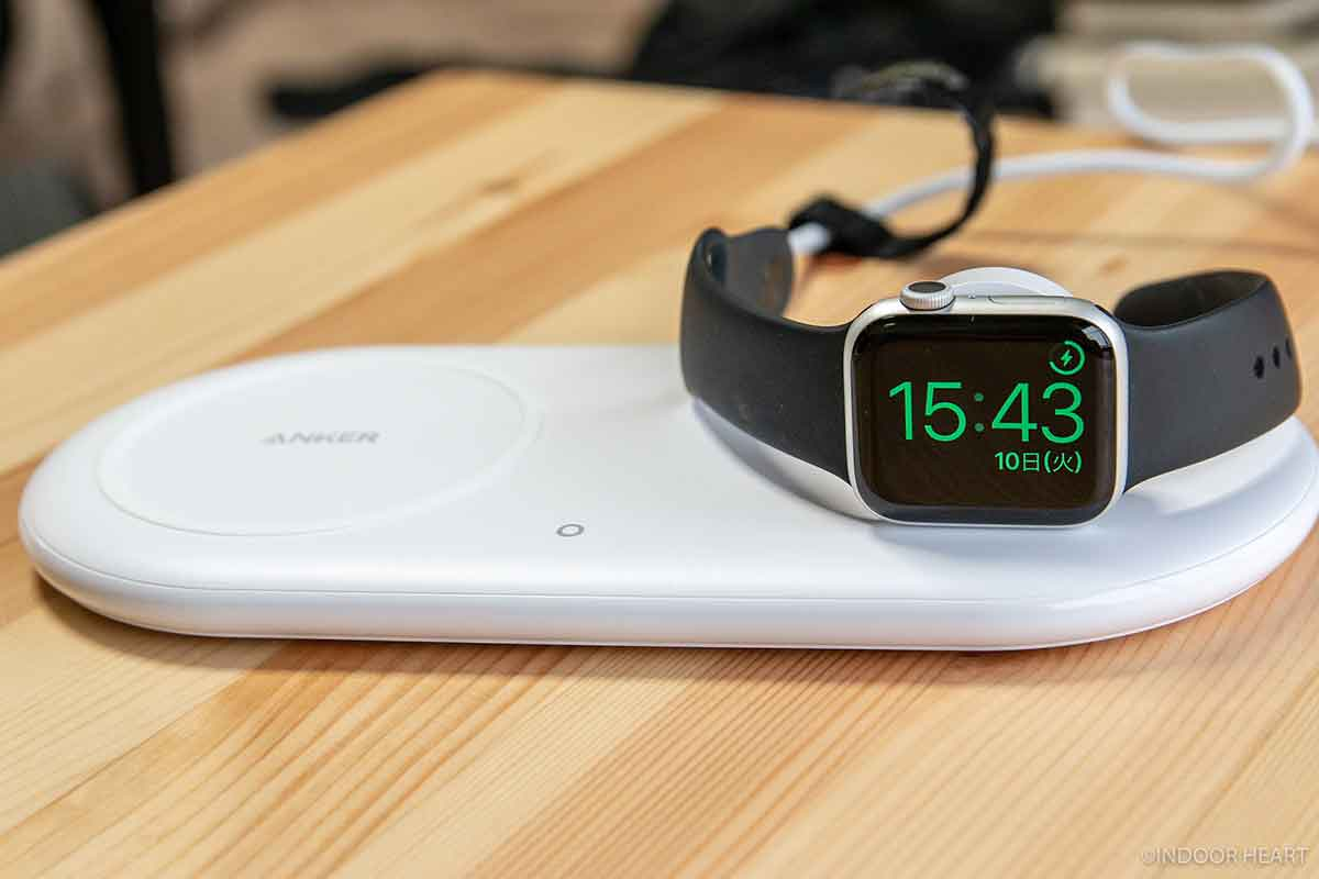 Anker PowerWave+でApple Watchをワイヤレス充電