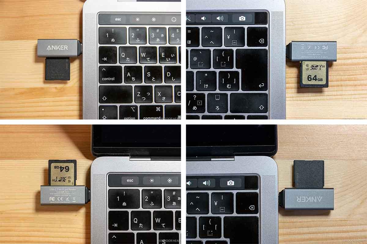 MacBookとSDカードの向き