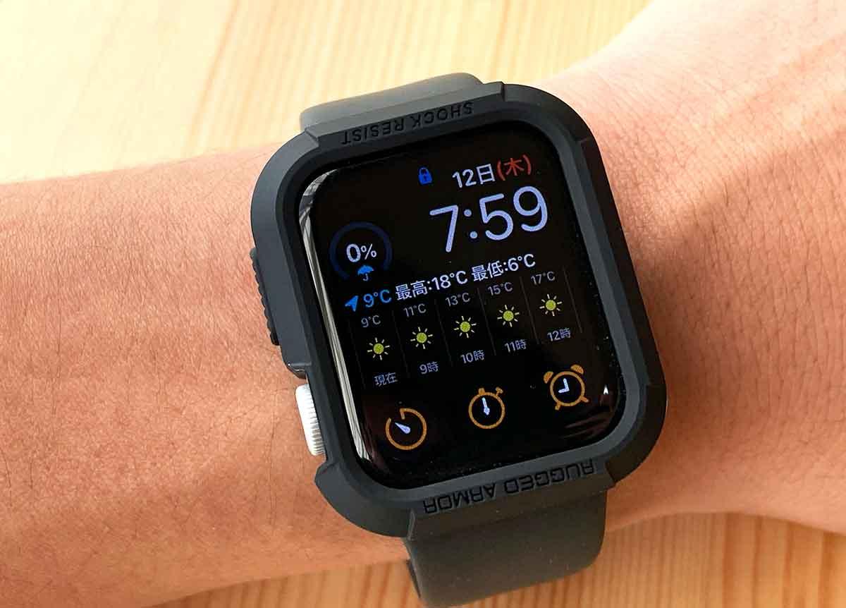 ケースを装着したApple Watch