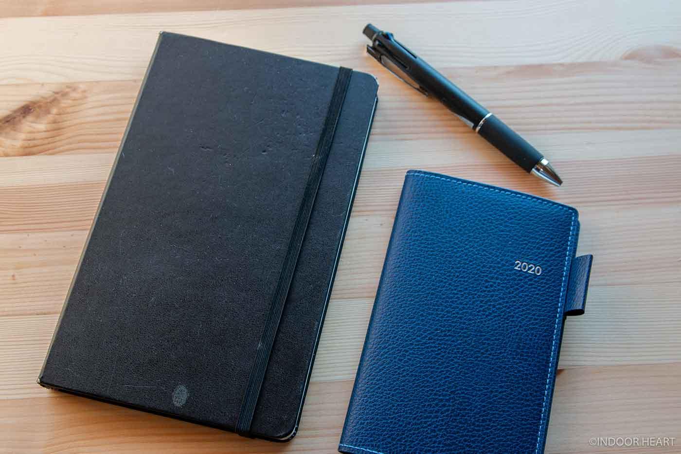 モレスキンとスケジュール帳とペン