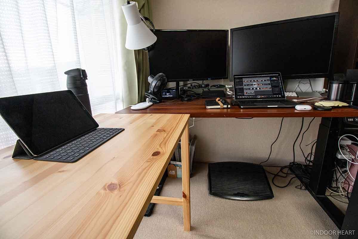 デスクとiPadと作業環境