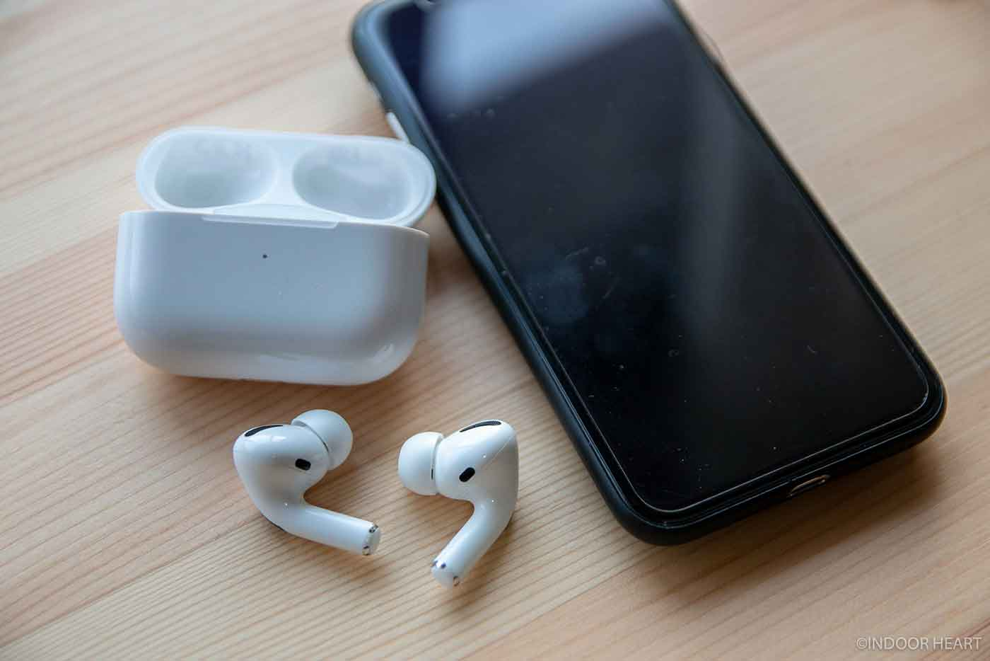 AirPods proとiPhone