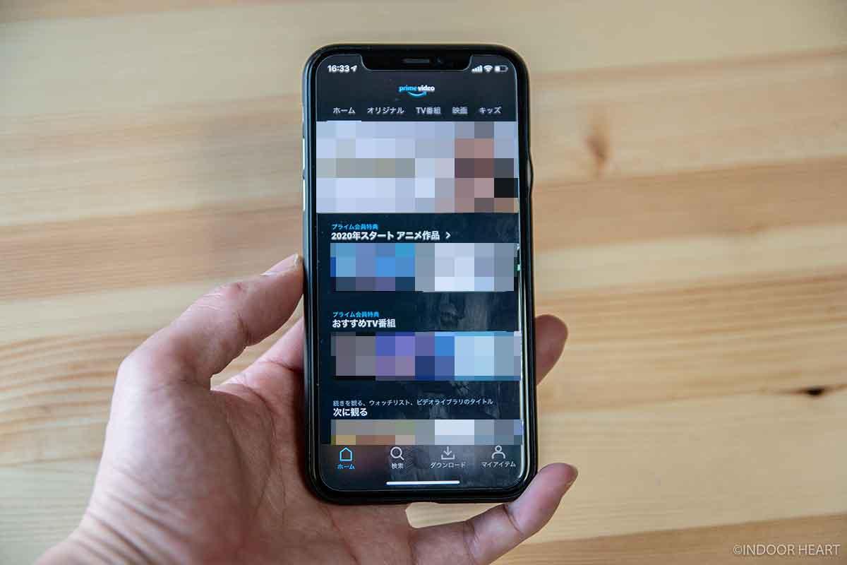 AmazonプライムビデオのiPhoneアプリ