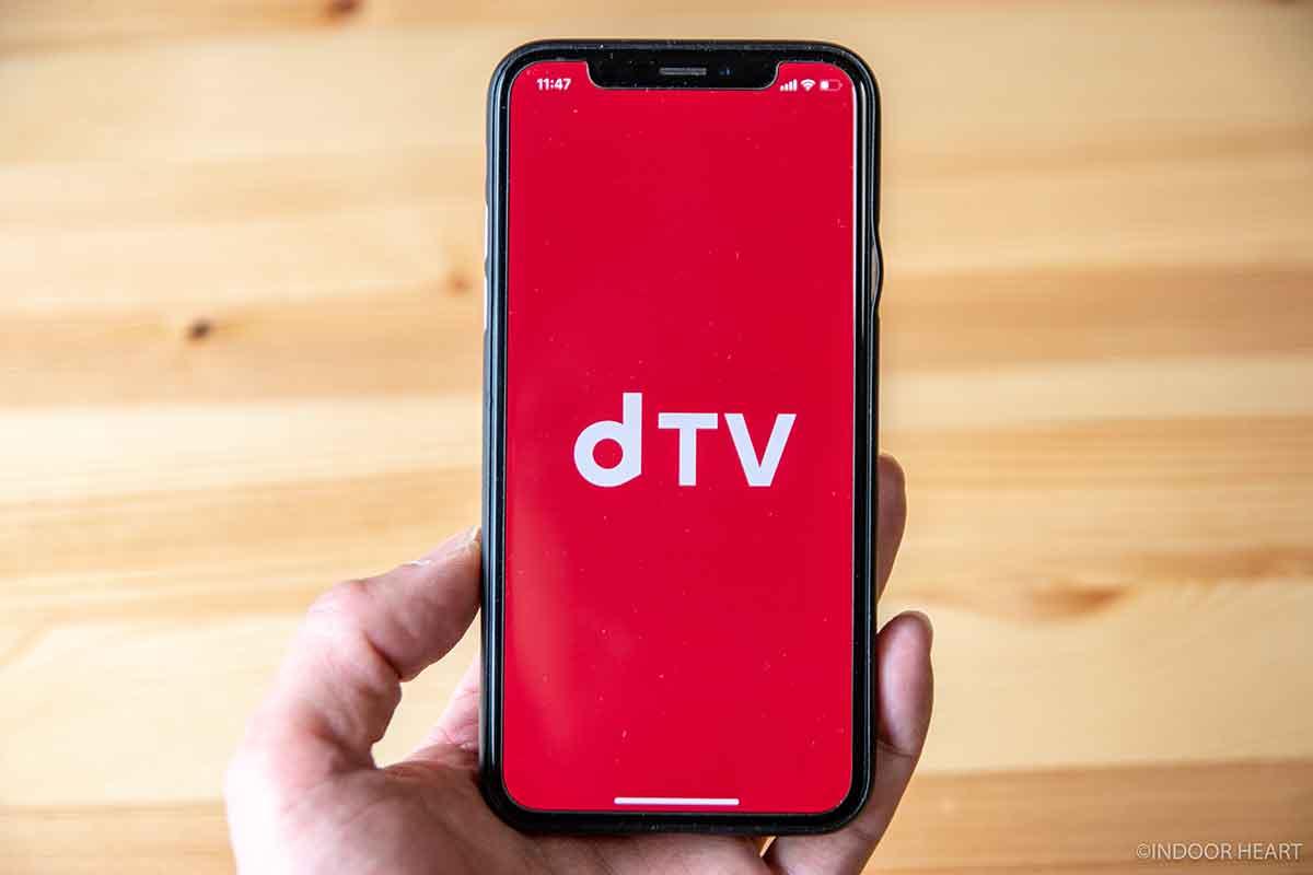 iPhoneのdTVアプリ