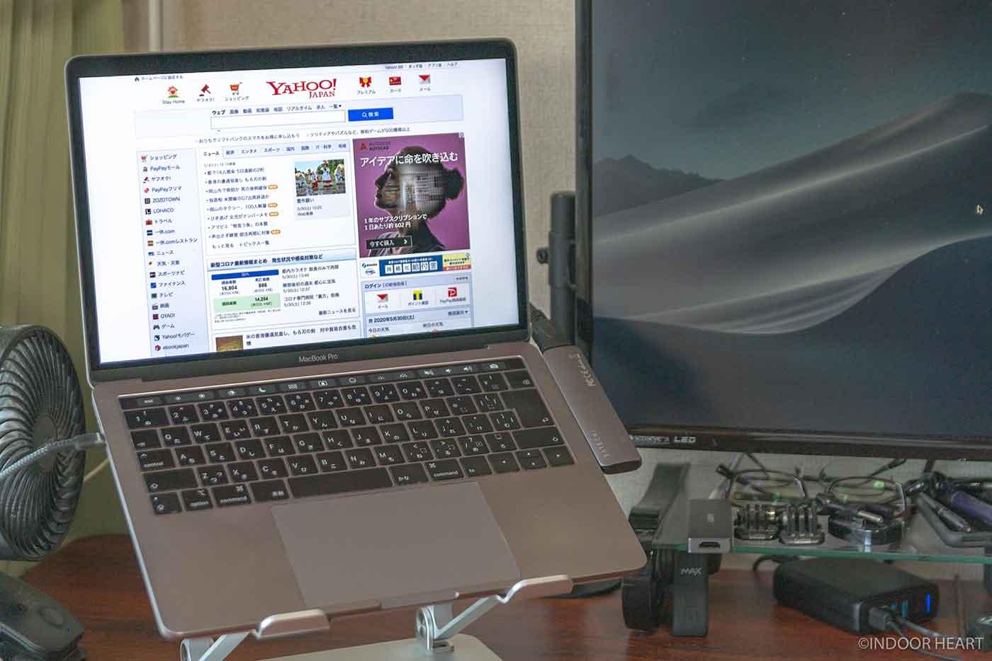 外部モニター接続時のMacBookの解像度