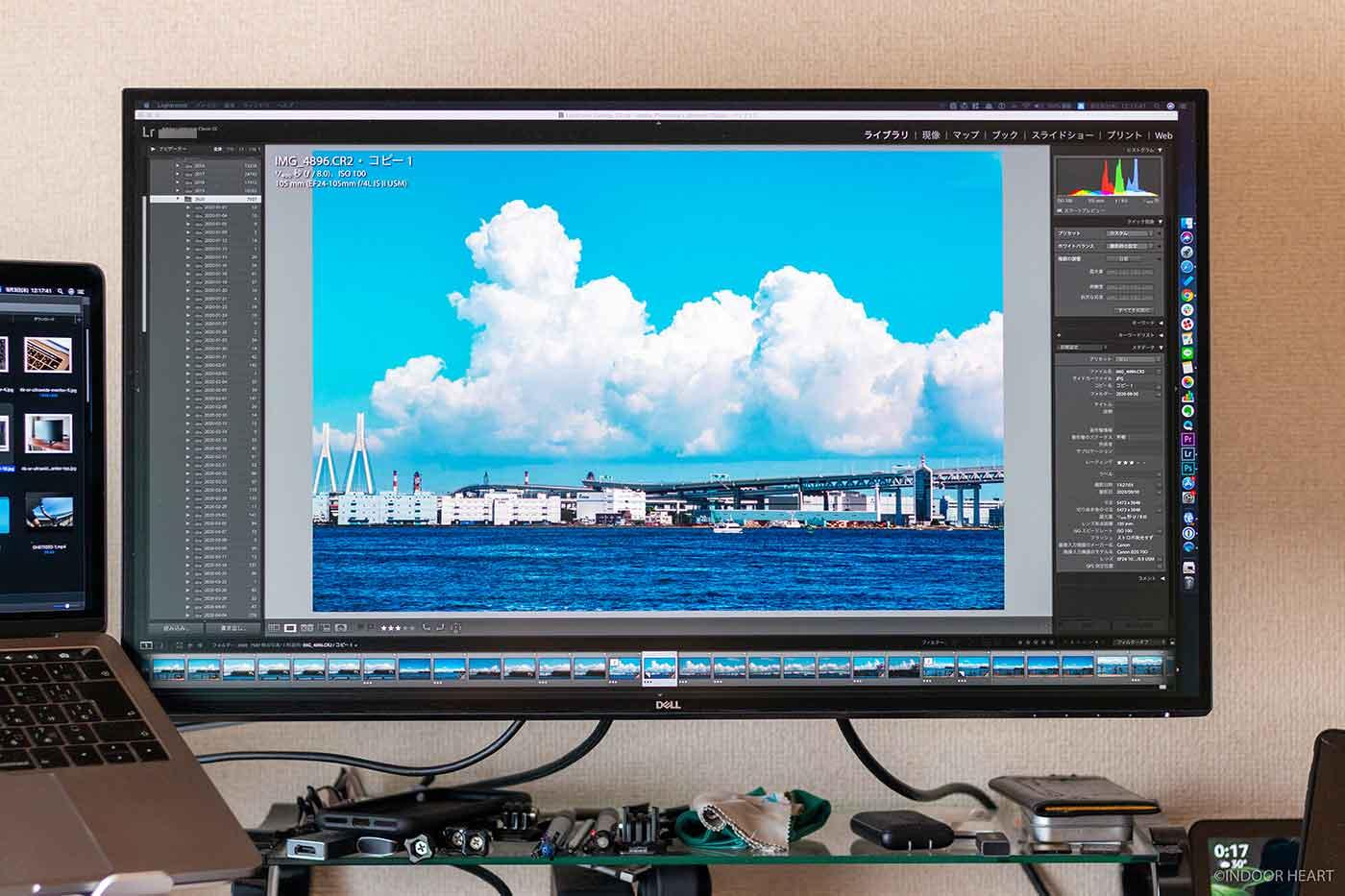 4Kモニターで写真編集