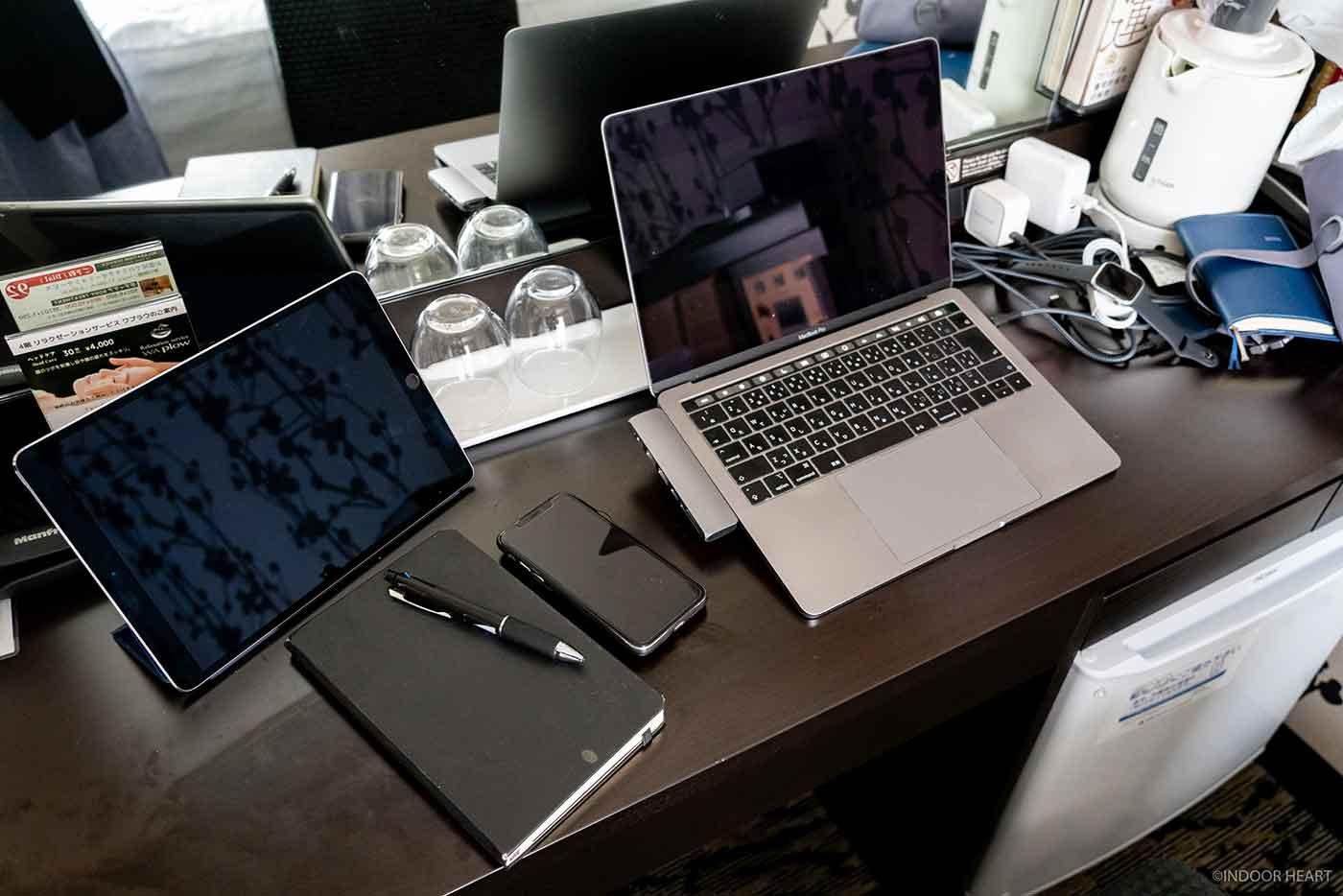 ホテルでのPC作業環境