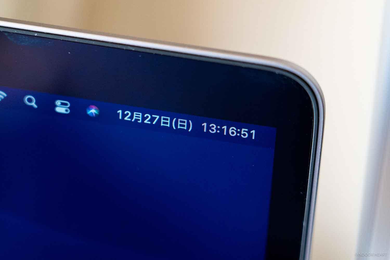Macのメニューバーに秒を表示