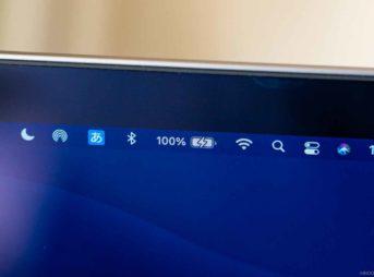 Macのメニューバーにバッテリー残量を%で表示