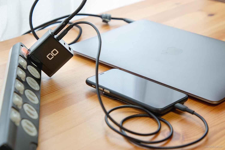 CIO-G65W3C1AでMacBookとiPhoneを充電器