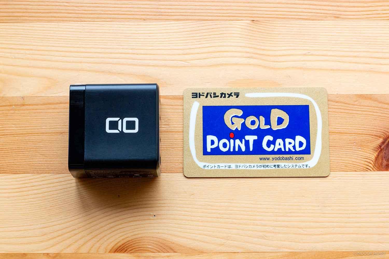 CIO-G65W3C1Aとカードの大きさ比較